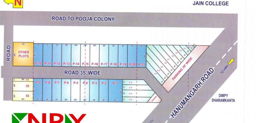 Plot 25×62 For Sale in Adarsh Colony (Near Pooja Colony )