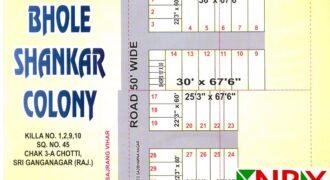 Plot 25×67 For Sale in Bhole Shankar Colony