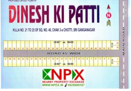 Plot 30×60 For Sale in DINESH KI PATTI ( Near Surjeet Singh Colony )