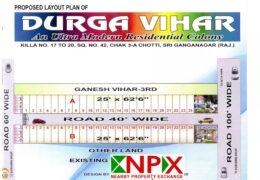 Plot 25×62 For Sale in Durga Vihar