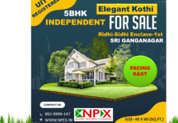 Elegant Kothi For Sale in Ridhi – Sidhi Enclave – 1st